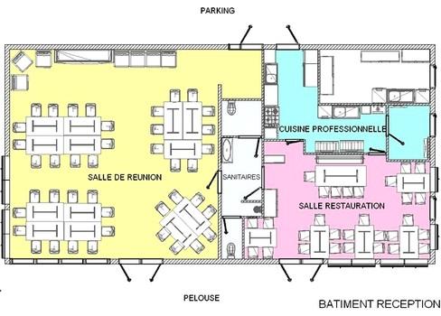 Plan du bâtiment réunion Gite et Nature.