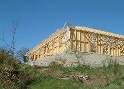 Des constructions à ossature bois chez Gîte et Nature.